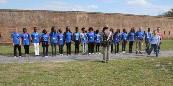 French youth visit Old Fort Jackson